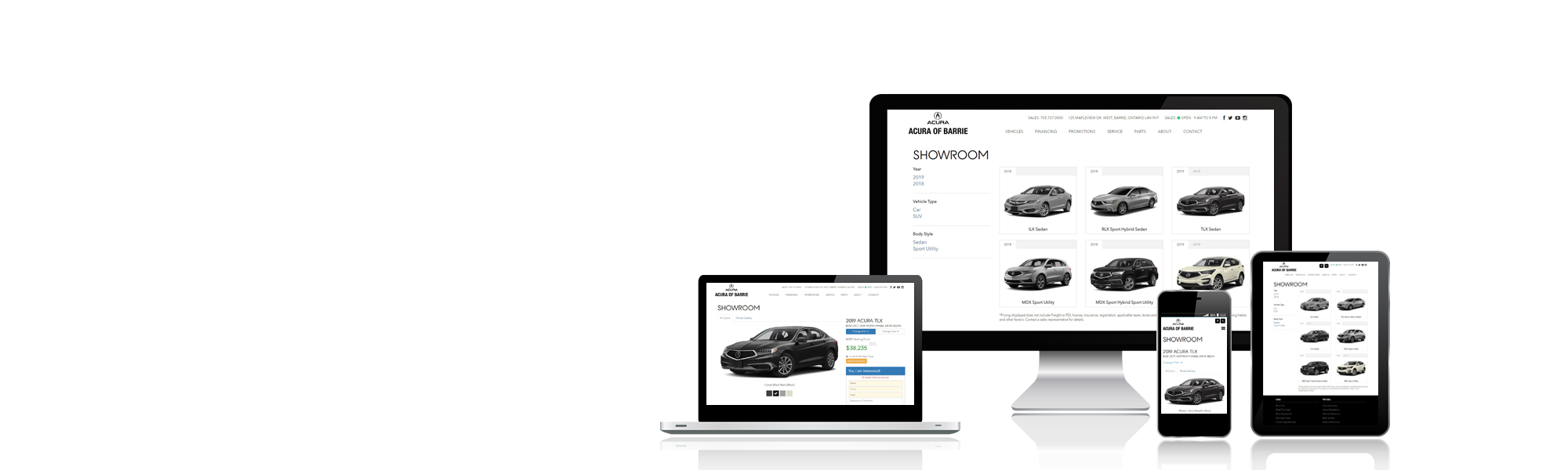 EZ Results, New Vehicle Showroom